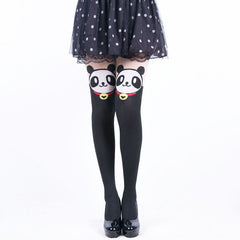 Panda San Faux Thigh High Stockings - KawaiiKoo