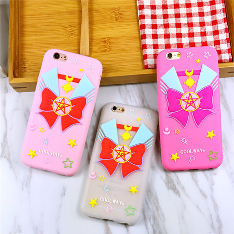 Sailor Ribbon Soft Silicone Phone Cases For iPhone - KawaiiKoo
