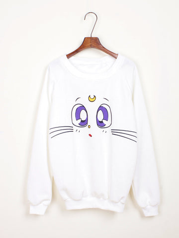 Sailor Moon Artemis Cat Sweatshirt with Fleece