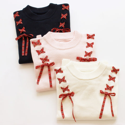 Dreamy Lolita Lace Up Sweaters - KawaiiKoo