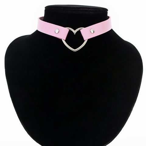 Heart-Shaped Choker Necklace