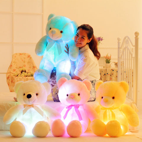 Bear Luminous Plush Pillow ☀Large, 30'' ☀ - KawaiiKoo