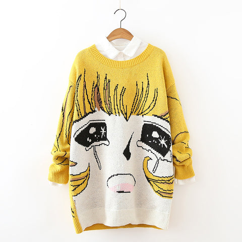 Anime Princess Knitted Long Sweaters - KawaiiKoo