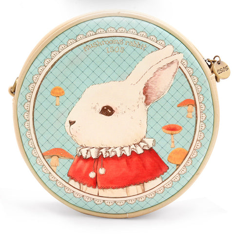 Alice in Wonderland Mr. Bunny Round Shoulder Bag - KawaiiKoo