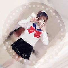 Sweetheart Sailor Uniform Bow-tie Sweater