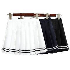 Sailor Uniform Style Pleated Skirts - KawaiiKoo