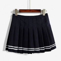 Sailor Uniform Style Pleated Skirts