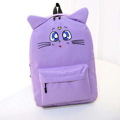Sailor Moon Cat Nylon Backpack - KawaiiKoo