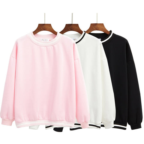 Minimalist Casual Pullovers with Fleece - KawaiiKoo