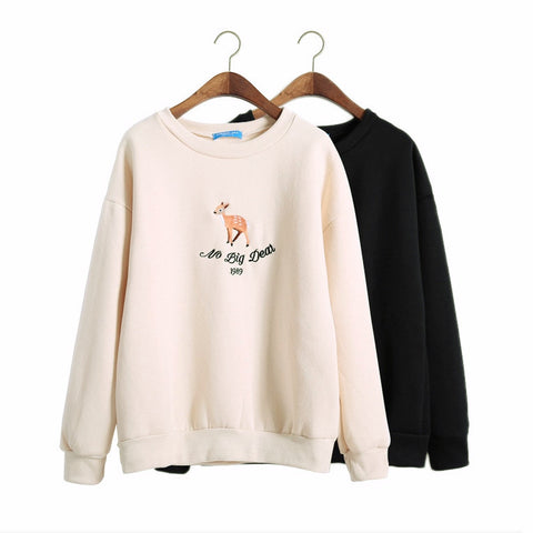 No Big Deer Fleece Pullover - KawaiiKoo