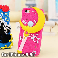 Sailor Moon Soft Silicon Phone Case for iPhone 5/5s/6/6s/6+ - KawaiiKoo