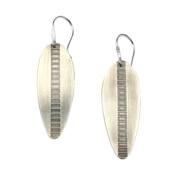 Argent Leaves | Long Leaf Earrings