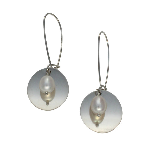 Natural Beauty | small brushed disk with drop earring