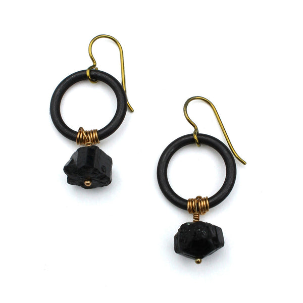 Chiaroscuro Nuggets | steel ring earrings