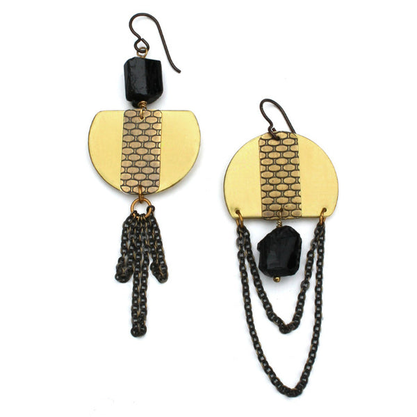 Chiaroscuro Mix | asymmetrical earrings