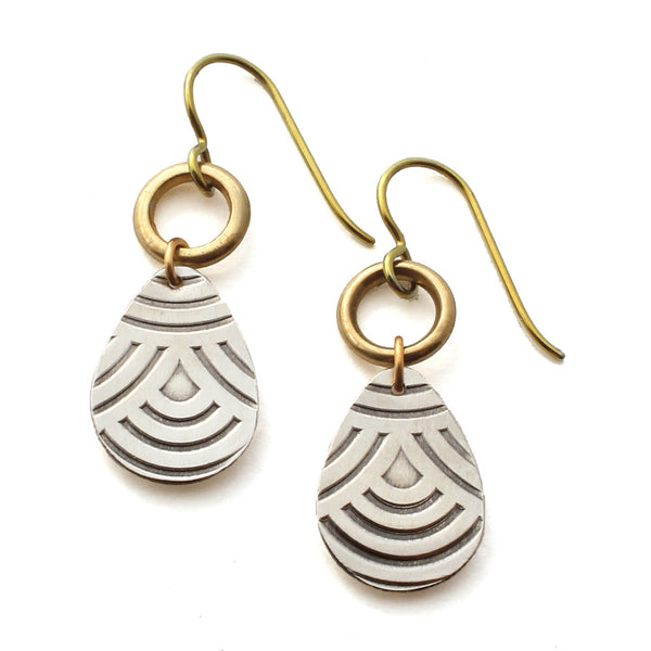 Falling Rain | dainty mixed metal earrings