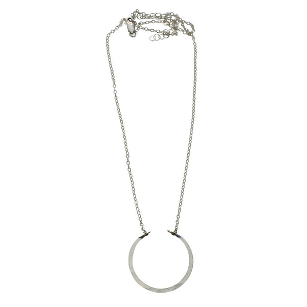 Natural Beauty | Dainty Hammered Arc Necklace