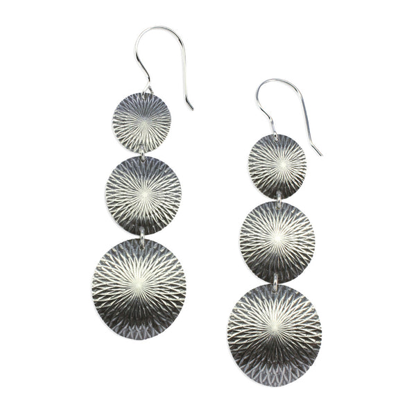 Kaleidoscope | Triple Disc Earrings