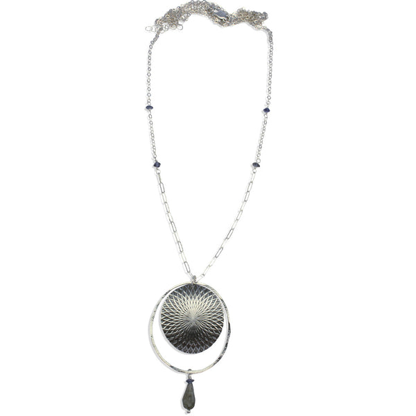 Kaleidoscope | Large Textured Orbit Necklace