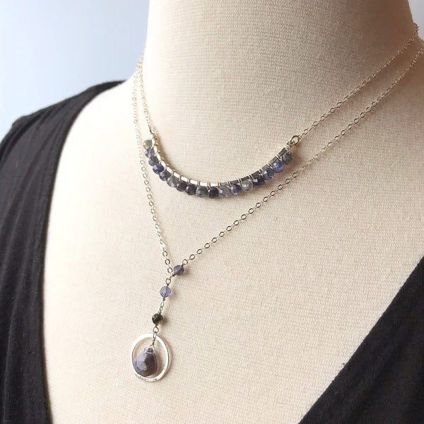 Pompeii | Faceted Gemstone Orbit Y-Necklace