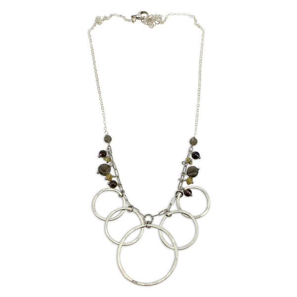 Luna | Beaded Multi Orbit Necklace