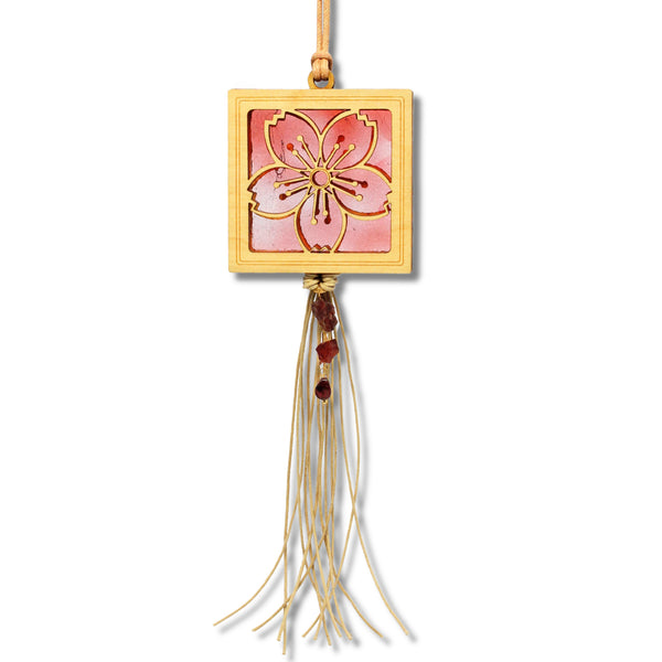 MINI Cherry Blossom w/gemstone fringe