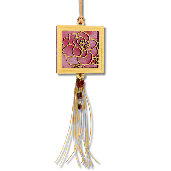 MINI Rose w/gemstone fringe