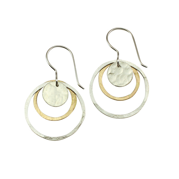 Natural Beauty | Dual Aura Mixed Metal Earrings