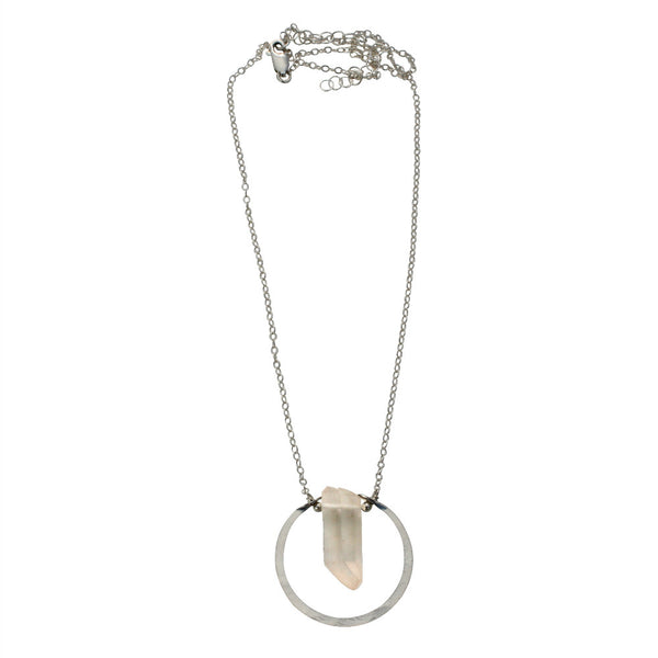 Natural Beauty | single point halo necklace