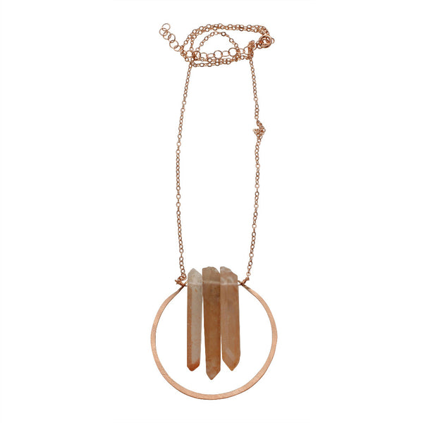 Natural Beauty | Triple Point Halo Necklace