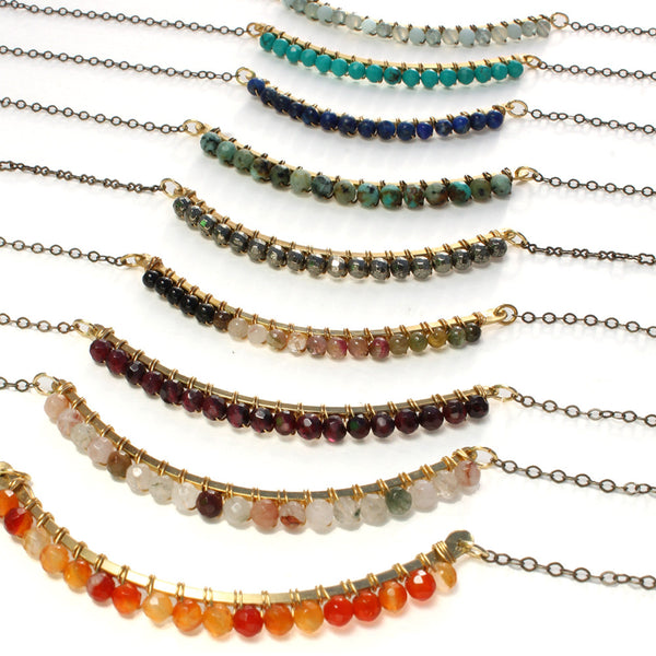 Pompeii | Beaded Arc Necklace
