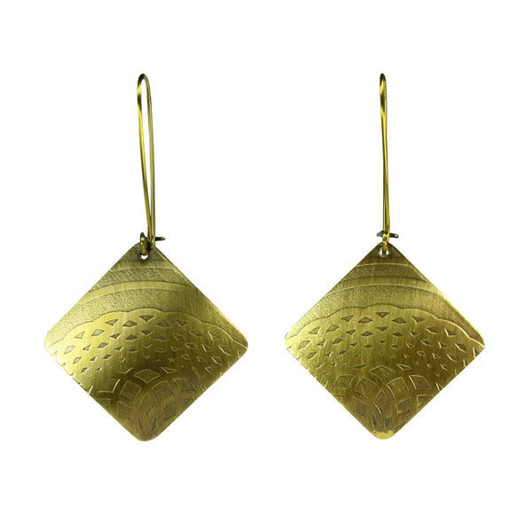 Talisman | diamond shaped drop earrings