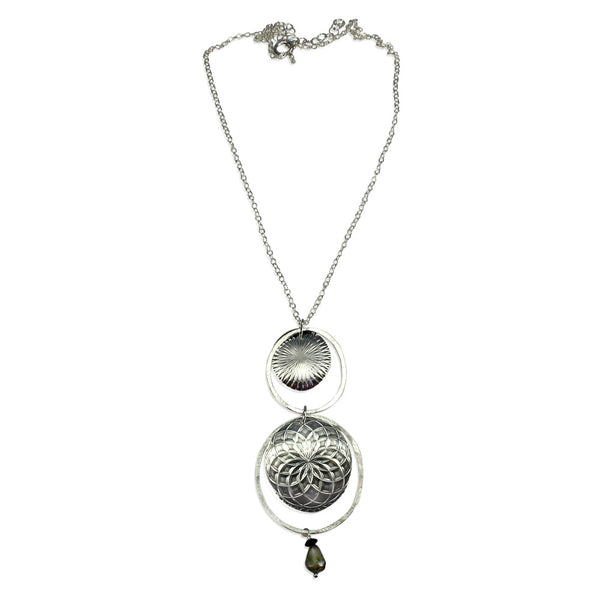 Talisman | Double Texture Pendant Necklace