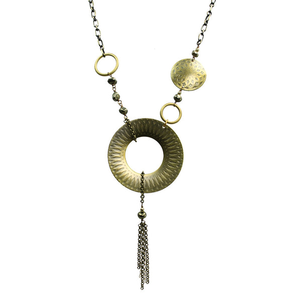 Talisman | Asymmetrical textured statement necklace