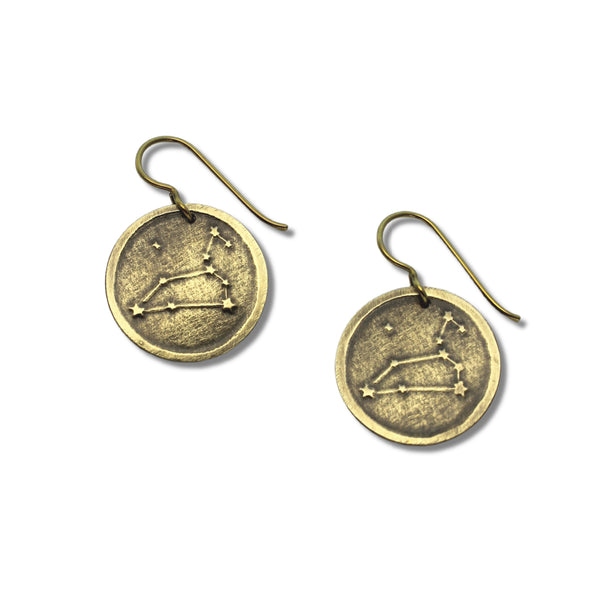 Celestial Zodiac | Disc Earrings