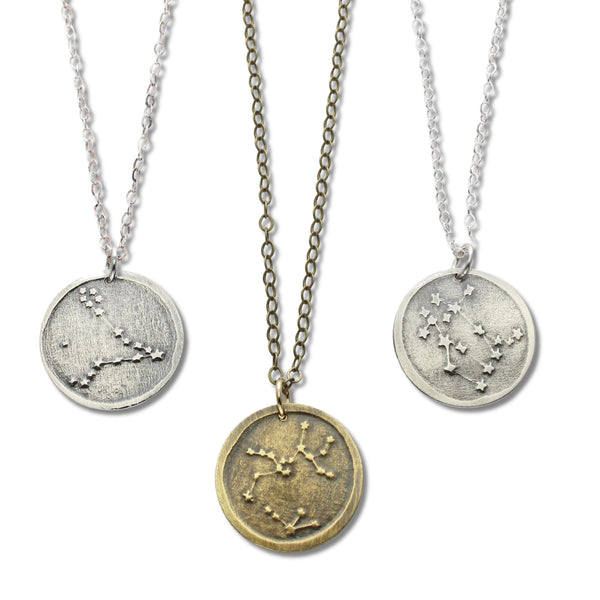 Celestial Zodiac | Small Pendant Necklace