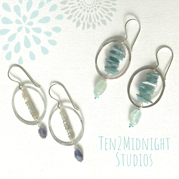 Gemstone Intersection Earrings | WEB SPECIAL