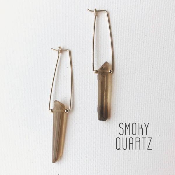 Natural Beauty | Gemstone Point Earrings