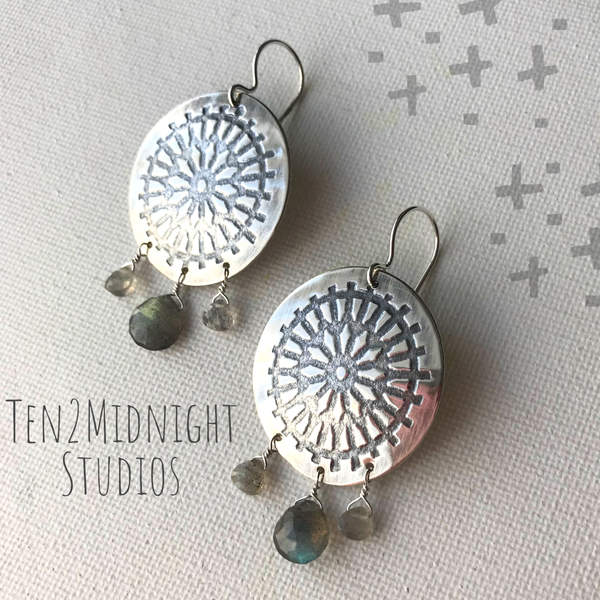Dreamcatcher Labradorite Earrings | ONE OF A KIND