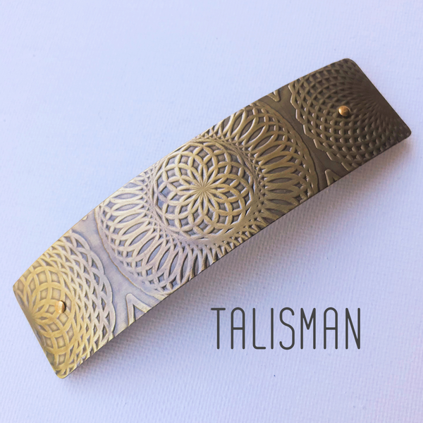 Textured Brass Hair Barette