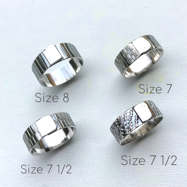 Sash Textured Rings
