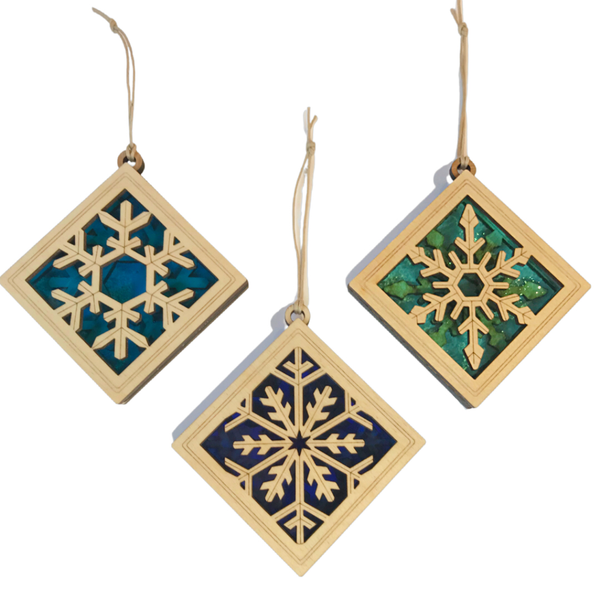 Snowflake Suncatcher Ornaments | SET OF 3