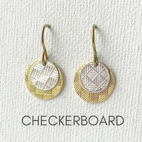 Mixed Metal Layered Texture Earrings | Web Special