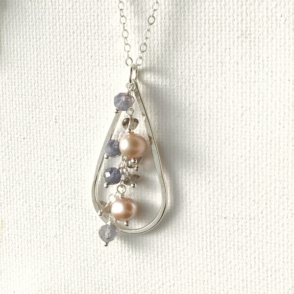 Gemstone Cascade Necklace | ONE OF A KIND