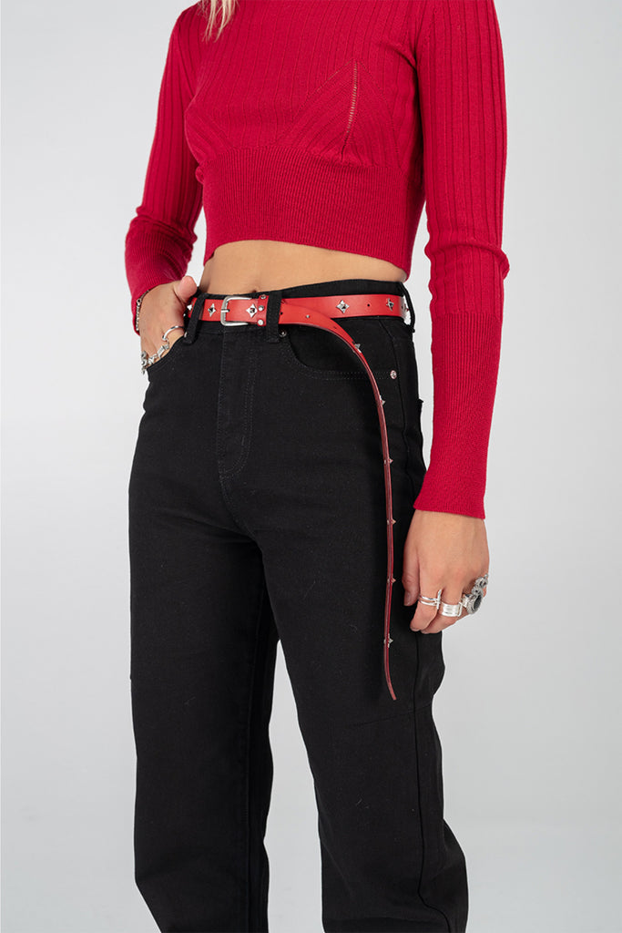 Ninja Star Belt - Red