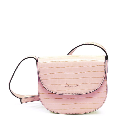 Miranda Bag - Croc - Rose