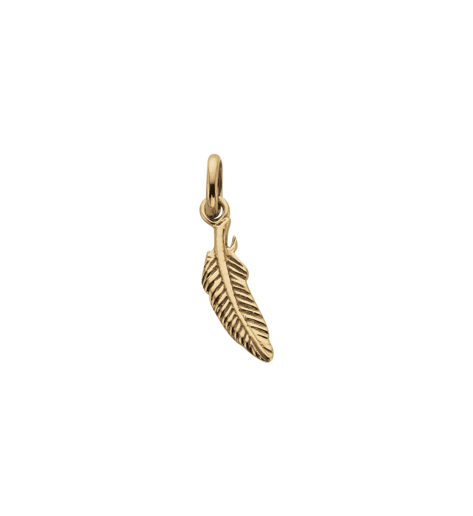 Feather Charm - Gold