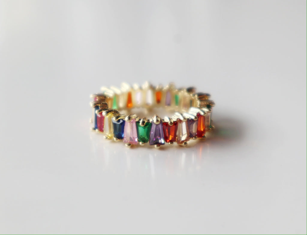 Lustre Ring - Gold/Rainbow