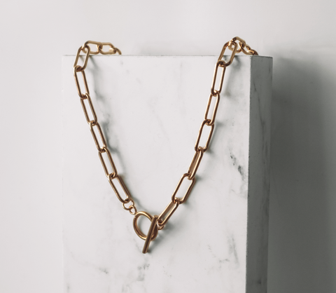 Link Fob Chain - Gold - Short