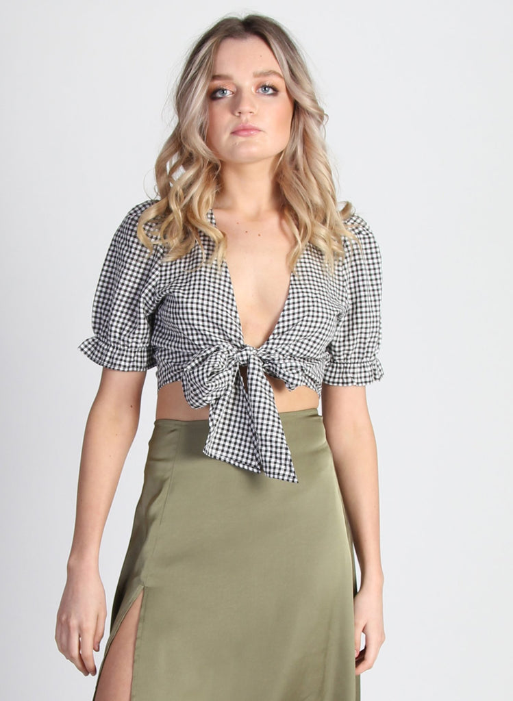 Kourtney Blouse - Gingham